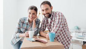 Moving into a new house Stock Images