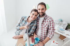 Moving into a new house Royalty Free Stock Image
