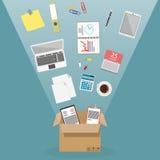 moving nytt kontor stock illustrationer