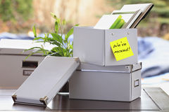 Moving Office Stock Photography