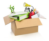 Moving office Royalty Free Stock Photography