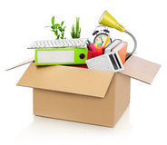 Moving office Stock Images