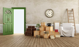 Moving from an old house Stock Photos