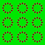 Moving optical illusion Stock Image