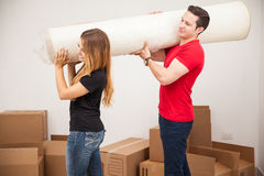 Moving into our new home Stock Photography