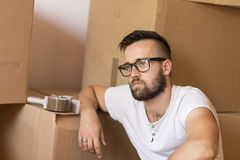 Moving and packing Stock Photos