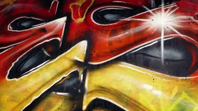 Moving Past Colorful Graffiti stock footage