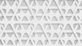 Moving perforated white triangles, loop stock footage