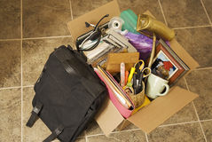 moving personal things from office royalty free stock photography