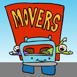 moving professionell för företag royaltyfri illustrationer