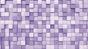 Moving purple cubes background, 3D rendering. Swaying magenta squares background 3D Stock Photo