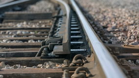 Moving a rail to change the way for train stock video