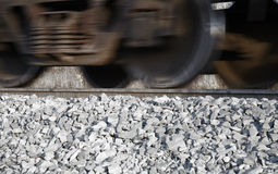 Moving railroad car Stock Images