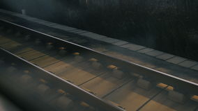 Moving railroad tracks. At very high speed stock video