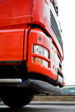 Moving red truck Royalty Free Stock Images