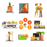 Moving and Repair Web Icon Set. Vector Stock Photos