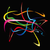 Moving ribbons (vector) Stock Photo
