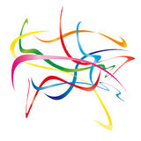 Moving ribbons (vector) Royalty Free Stock Image