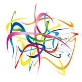 Moving ribbons (vector) Royalty Free Stock Photography