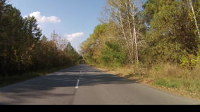Moving on the road stock footage