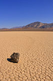 Moving Rock. The moving rock at Racetrack Playa in Death Valley Stock Photo