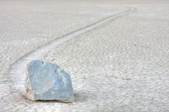 Moving rock,  Death Valley National Park CA Royalty Free Stock Images