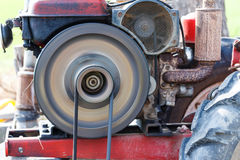 Moving rolling and belt of vehicle engine Royalty Free Stock Photography