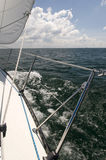 Moving Sailboat Stock Photography