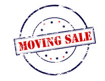 Moving sale Royalty Free Stock Image
