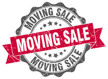 Moving sale stamp. Sign. seal Royalty Free Stock Image