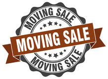 Moving sale stamp. Sign. seal Royalty Free Stock Photos