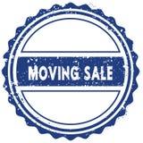 MOVING SALE stamp. sticker. seal. blue round grunge vintage ribbon sign. Illustration Stock Photography