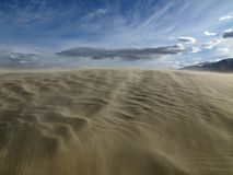 Moving Sands. Moving sand on top of Olancha Dunes in the Mojave desert Stock Photos
