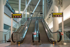 Moving Scalator in Toronto International Airport Stock Photo