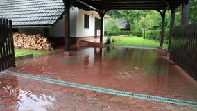 Moving scene of a house during the flood stock video footage