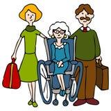 Moving Senior To Nursing Home Stock Photos