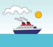 moving ship Fotografering för Bildbyråer