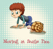 Moving at snails pace. Illustration Royalty Free Stock Photography