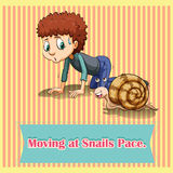 Moving at snails pace. Illustration Royalty Free Stock Image