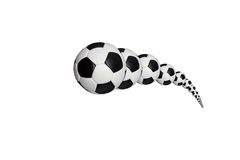 Moving soccer ball Stock Images