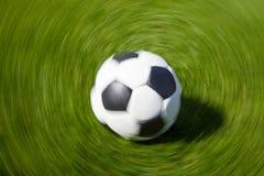 Moving soccer ball Royalty Free Stock Photos