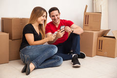 Moving and social networking Royalty Free Stock Photos