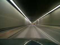 Moving at the speed of light. Captured at a high rate of speed moving through a tunnel Stock Photo