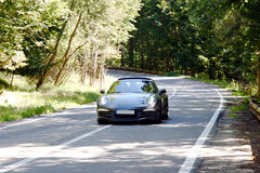 Moving sport car. On the road Stock Image