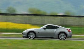 Moving sport coupe Stock Photography