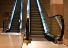 Moving staircase. Interior of the bank: moving staircase, Amsterdam Stock Photos