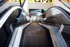 Moving staircase at airport 2 Royalty Free Stock Image