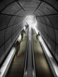 Moving stairs on exit underground Bilbao, Spain Stock Photography