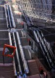 Moving stairs in the railway station of Kyoto, Japan. Royalty Free Stock Photo