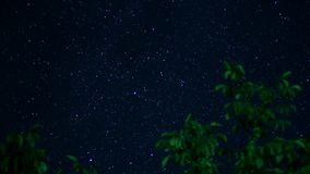 Moving Stars stock footage